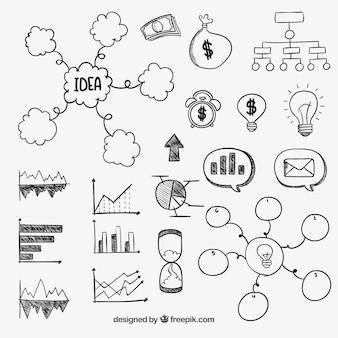 Diagrammi aziendali disegnati a mano