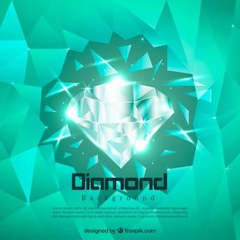 Diamante sfondo verde