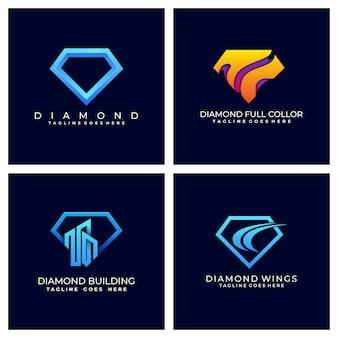 Diamond colorful template design illustration