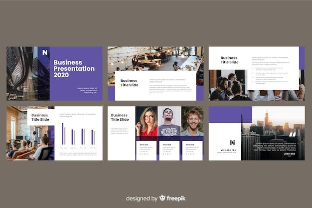 Diapositive di presentazione aziendale con foto