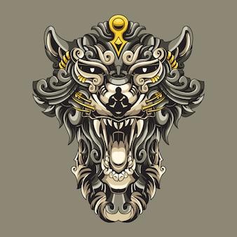 Diavolo tazmaniano illustrazione ornamentale