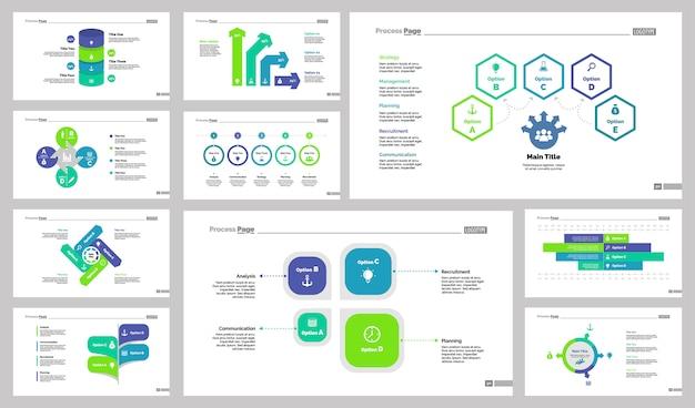 Dieci modelli di diapositive di ricerca impostati