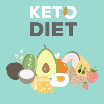 Dieta chetogenica, cibo keto, grassi alti, cibo sano per il cuore