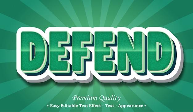Difendi l'effetto stile font 3d