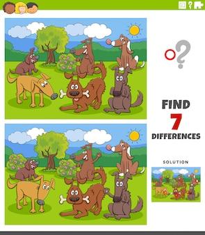 Differenze compito educativo con il gruppo di cani e cuccioli