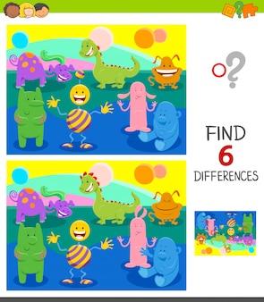 Differenze gioco educativo per bambini