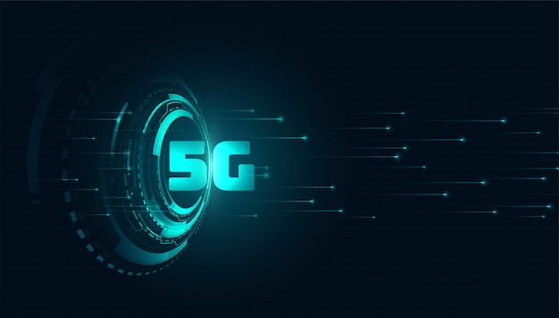 Digital 5g quinto background generatitechnology