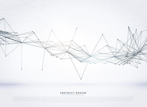 Digitale fondo di rete metallica in stile tecnologia di collegamento