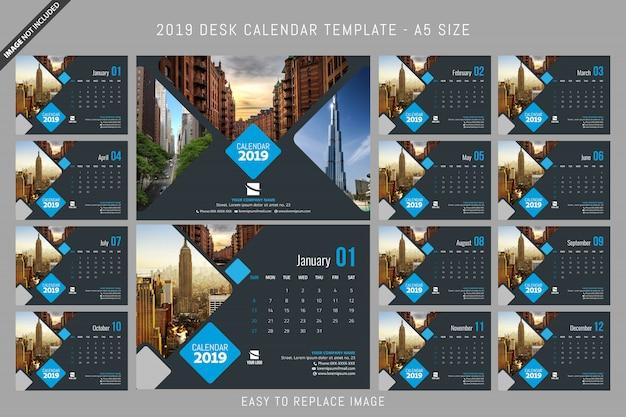 Dimensione a5 del calendario da tavolo modello a5