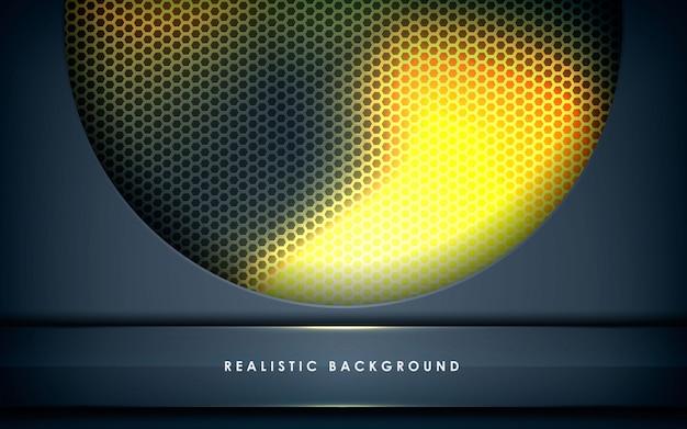 Dimensione del cerchio grigio con fiamma dorata