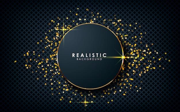 Dimensione del cerchio realistico con riflessi dorati