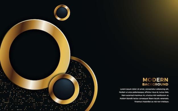 Dimensione del cerchio realistico con riflessi dorati.