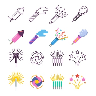 Dinamite di festival, fuochi d'artificio di festa, scintilla di festa, festa pirotecnica