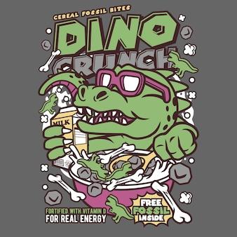 Dino crunch cartoon
