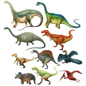 Dinosauri collezione colorata