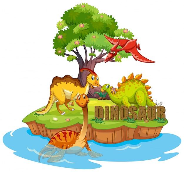 Dinosauri sull'isola