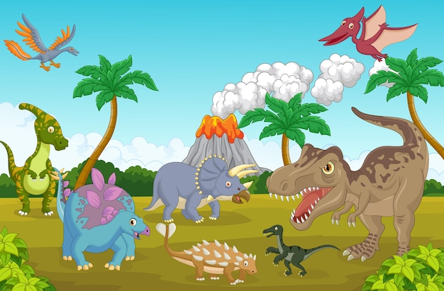 Dinosauro carino felice