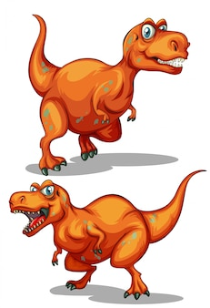 Dinosauro con denti affilati