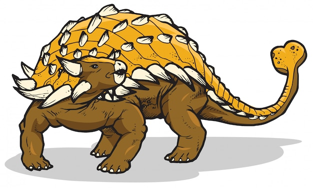 Dinosauro di ankylosaurus
