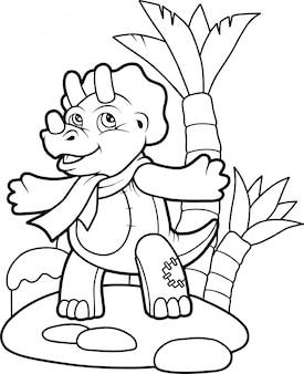 Dinosauro simpatico cartone animato