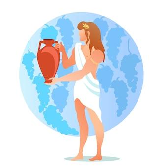 Dioniso bacco dio o divinità del vino, vinificazione