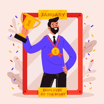 Dipendente del concetto mese con premio