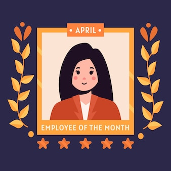 Dipendente del mese concetto illustrazione