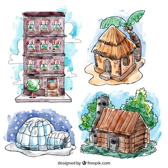 Dipinti a mano collezione case culturali