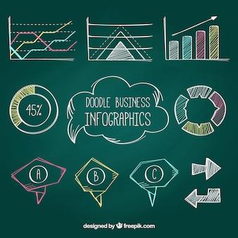 Dipinti a mano infografica colorati insieme