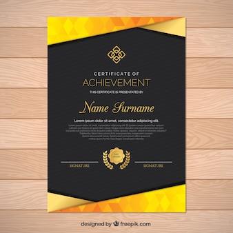 Diploma con forme d'oro