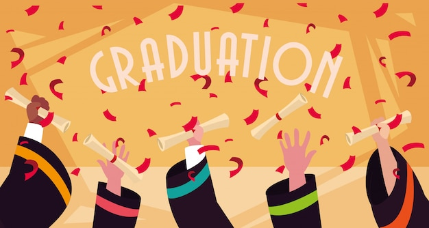 Diploma di laurea in celebrazione