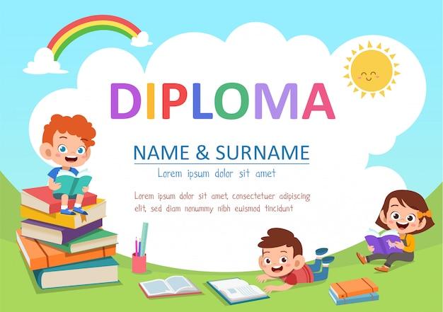 Diploma per bambini in età prescolare