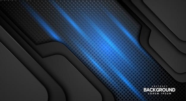 Direzione di linea astratta sul fondo futuristico di lusso moderno di progettazione della maglia di esagono.