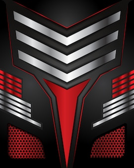 Direzione di linea astratta sul fondo futuristico di lusso moderno di progettazione della maglia di esagono