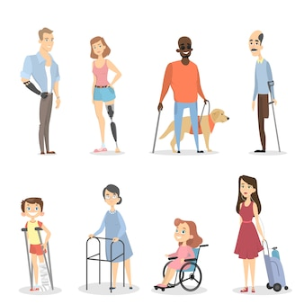 Disabili con gambe o braccia assenti o non vedenti.