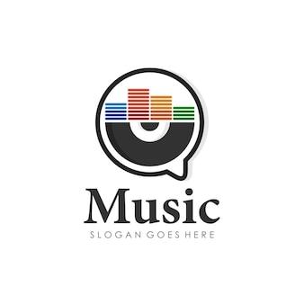 Disc music play logo design