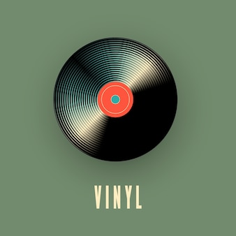 Disco musicale in vinile. illustrazione