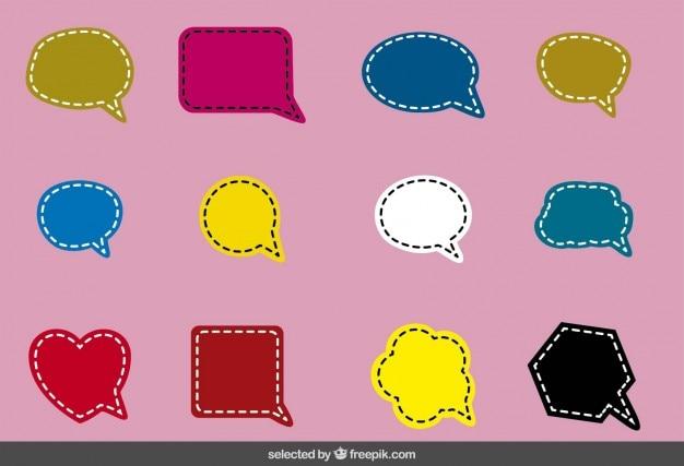 Discorso colorato altalena bolle di raccolta