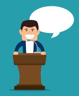 Discorso sul podio
