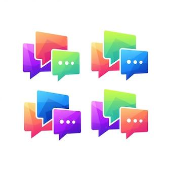 Discussione di comunicazione del messaggio di chat