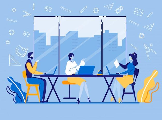 Discussione sul progetto marketer luminoso.