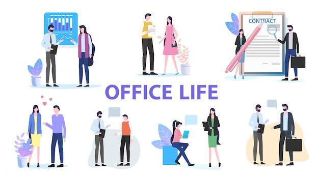 Discutere del gruppo di lavoro del gruppo della collega di ufficio della donna dell'uomo di ufficio vita