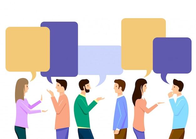 Discutere social network, lavoro di squadra.