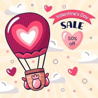 Disegnando con il tema di vendita di san valentino