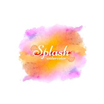 Disegnata a mano ad acquerello splash design sfondo