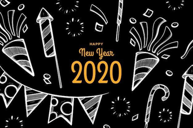 Disegnata a mano anno nuovo sfondo