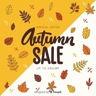 Disegnata a mano autunno vendita sfondo