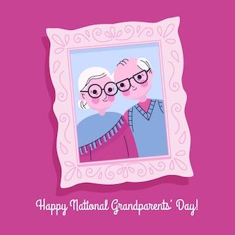 Disegnata a mano festa nazionale dei nonni