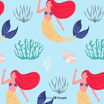 Disegnata a mano modello sirena