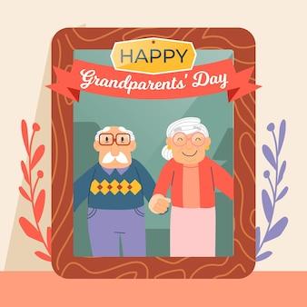 Disegnata a mano nazionale festa dei nonni usa